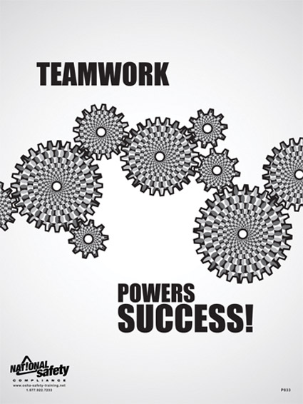 Poster - Teamwork Powers Success - ABC Safety Training