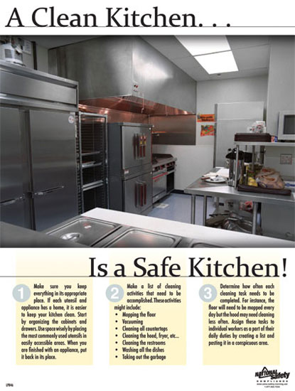 Poster Clean Kitchen Abc Safety Training