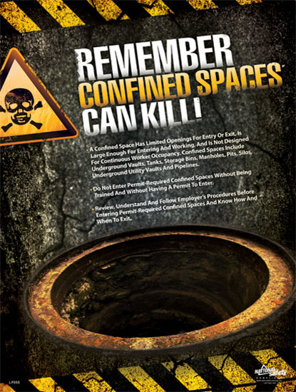 Poster Confined Spaces Can Kill Abc Safety Training