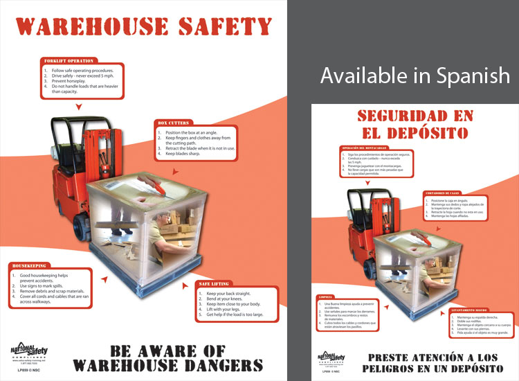 Poster Warehouse Safety Abc Safety Training