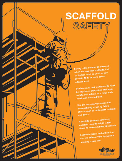 Poster Scaffold Safety Abc Safety Training